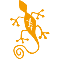 Sticker African Lizard