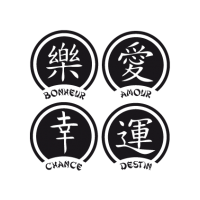 Sticker Asian Symbols