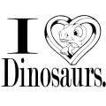 Sticker I Love Dinosaurs